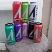 A variety of different Adrenaline Shoc Energy Drink flavors