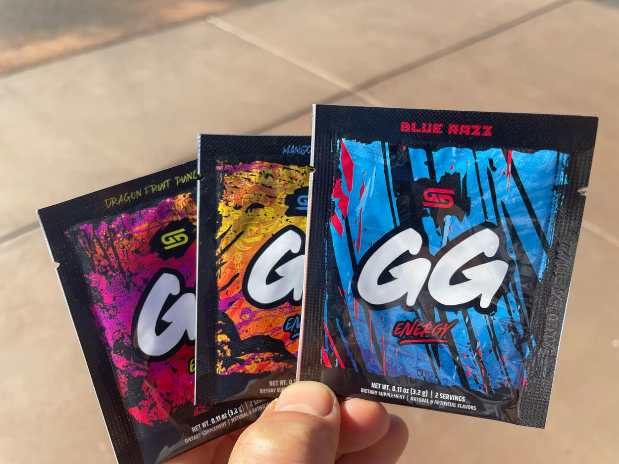 GG Gamer Supps in different flavors.