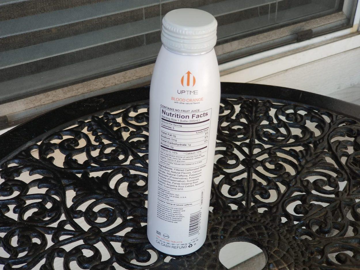 Uptime energy drink bottle