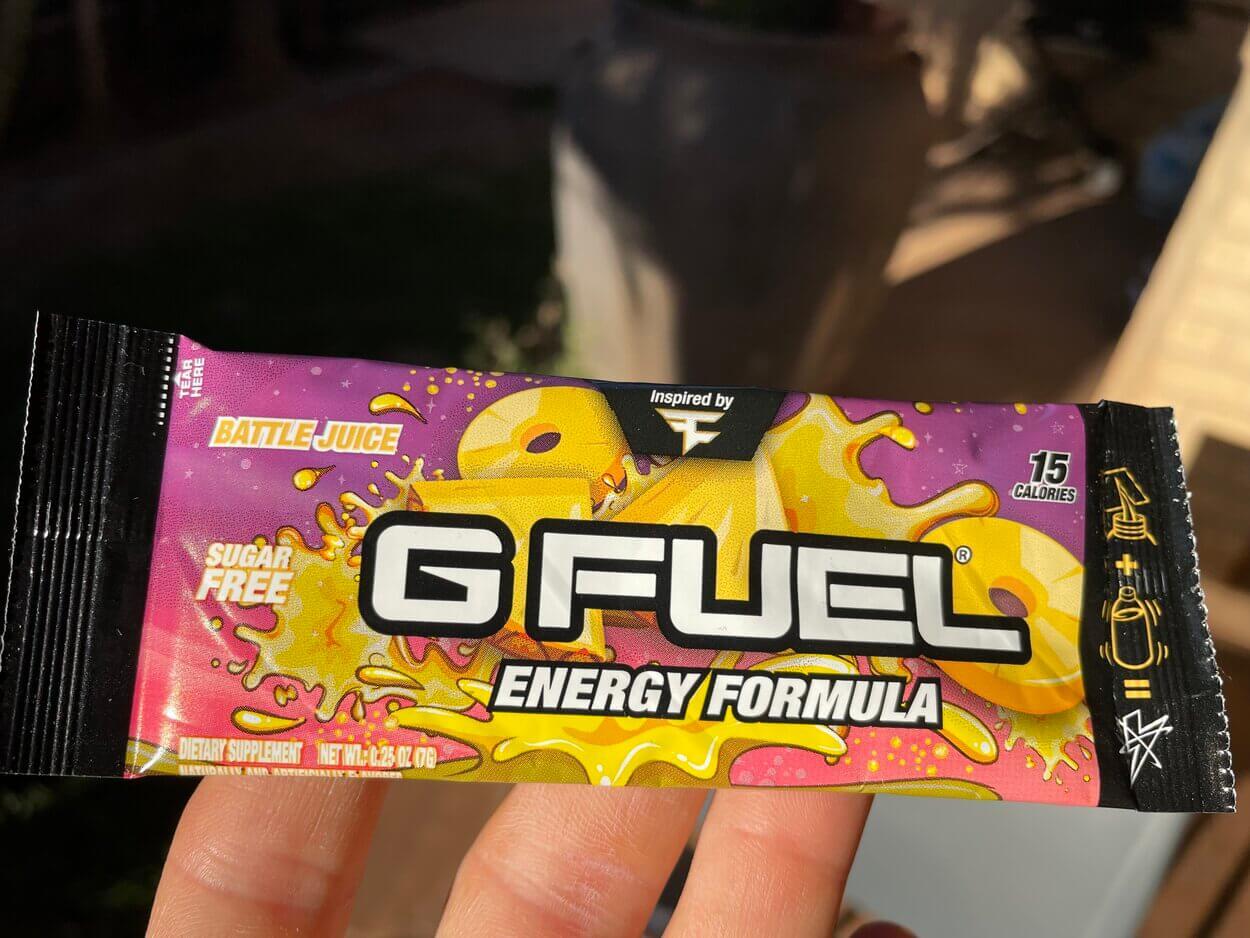 G Fuel sachet